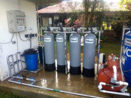 Tratamiento de agua potable con batería de filtración